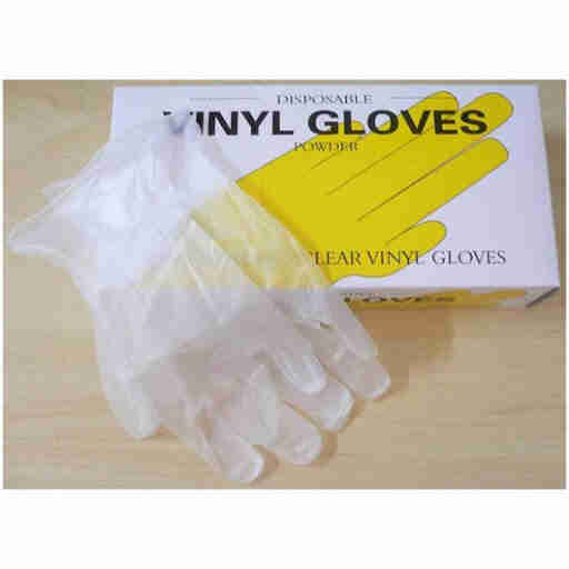 Disposal Vinyl hand Gloves Clear